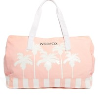 Wildfox Bel Air Palms Canvas Beach Bag