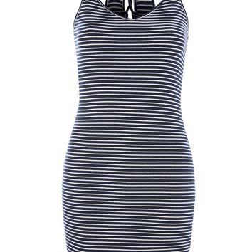 Striped Bodycon Mini Dress - Dresses - Clothing