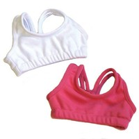 Sports Bra Doll Set, Fits 18 Inch American Girl Dolls, Pink & White