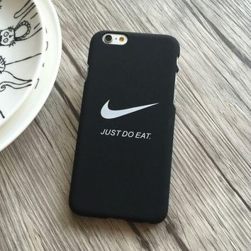CREYONPR Trendy Nike Just Do Eat Print Iphone 5 5s SE 6 6s 6plus 6splus 7 7plus Cover Case