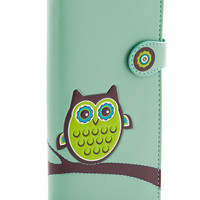 ModCloth Owls Fl-owl-er Power Wallet