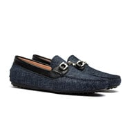 OPP Men's Leather Loafers Fashion Style With Sequined Slip-On Shoes Good for Casual Party and Wedding Black/Blue/Brown