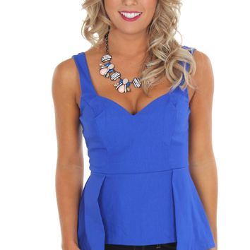 Peplum Tank Royal
