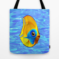 A Cute Little Tropical Fish is Swimming on Societ6!