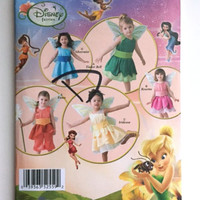 Simplicity 2559 Sewing Pattern Disney Fairies Halloween Costume Girls 1 2 3 4 Uncut