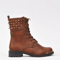Combat Battle Boots - Whiskey