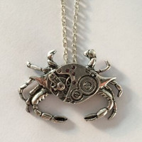 Vintage Crab Steampunk Necklace