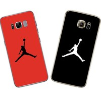 Michael Jordan Silicone For Samsung Galaxy S4 S5 S6 S7 Edge S8 Plus A3 A5 J1 J2 J3 J5 J7 2016 2017 Note 8 Grand Prime Case