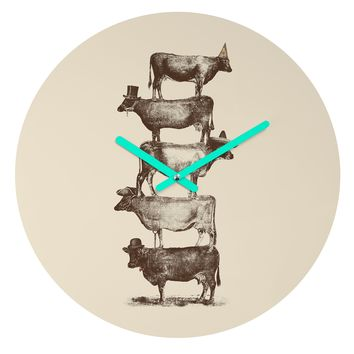 Florent Bodart Cow Cow Nuts Round Clock