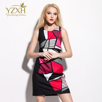 Young Women Dresses Sleeveless Tank Free Shipping Designer Elegant Splicing Puzzles Work Business Leisure Party Beach Clothing