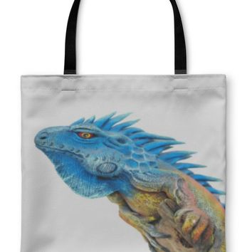Tote Bag, Bearded Dragon Isolated On White