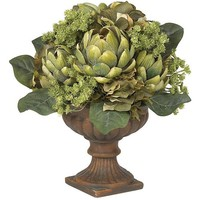 Nearly Natural 4635 Artichoke Centerpiece Silk Flower Arrangement