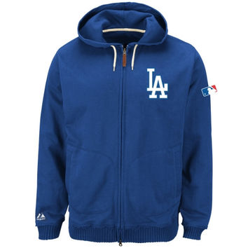Majestic L.A. Dodgers 2014 Authentic Collection Clubhouse Full-Zip Hooded Sweatshirt - Royal Blue