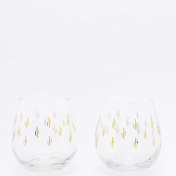 Cactus Wine Glass Set - Urban Outfitters