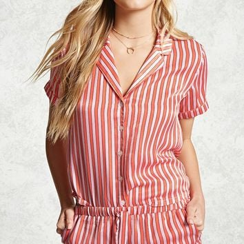 Satin Striped PJ Set