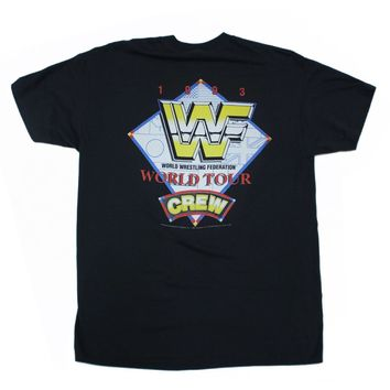 WWF WORLD TOUR 1993 CREW T-SHIRT XL