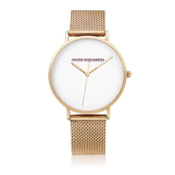 gold mesh watch by Soze | Soze Squared
