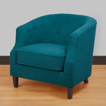 Ansley Peacock Blue Tub Chair | Overstock.com