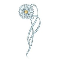 Tiffany & Co. -  The Great Gatsby Collection daisy brooch of yellow and white diamonds.