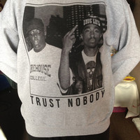 Tupac Trust Nobody Crewneck Sweater