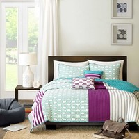 Kyra 4 Piece Quilted Coverlet Set