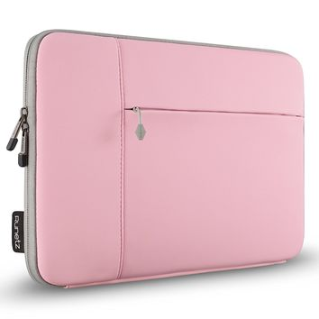 "Runetz - 13-inch PINK Neoprene Sleeve Case Cover for MacBook Pro 13.3"" with or w/out Retina Display and MacBook Air 13"" Laptop - Pink-Gray"