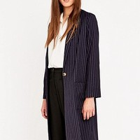 Urban Outfitters Pinstripe Long Line Blazer - Urban Outfitters