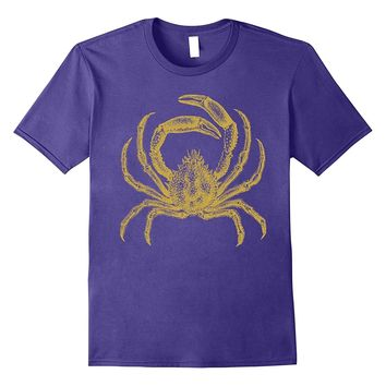 Vintage King Crab Ocean Marine Gold Shell Fish Cool T Shirt