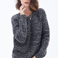 LOVE 21 Textured Crew Neck Sweater