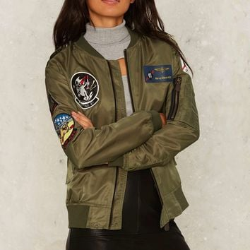 Patch Me on the Flipside Bomber Jacket