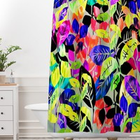 Holly Sharpe Rainbow Jungle Shower Curtain And Mat