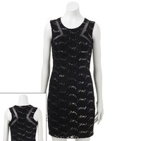 City Triangles Lace Hologram Sheath Dress - Juniors