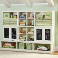 Cameron Creativity Storage System with Art Cubbies and Chalk Cabinets | Pottery Barn Kids