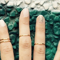Set of 4 gold tone midi knuckle rings- 14mm/15mm/16mm- gypsy, boho, eclectic hand jewelry- toes too