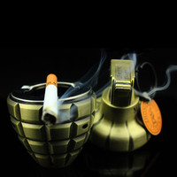 Creative metal men's cigaretee ashtray windproof Inflatable butane gas lighters size 10cm*5cm*5cm