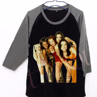 Spice Girls V1 Unisex Men Women Black Long Sleeve Baseball Shirt Tshirt Jersey