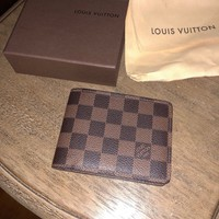 louis vuitton wallet men's damier ebene canvas