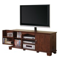 Walker Edison 60-Inch Wood TV Console With Mount, Traditional Brown