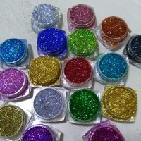 18Pots LOT Holographic Glitter Ultra Fine .008, resin supplies, rainbow glitter, loose glitter, nail glitters, 5g/pot LB100-789