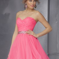 Sticks & Stones by Mori Lee 9281 Hot Neon Party Dress