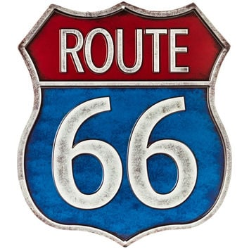 Route 66 Embossed Tin Sign | Hobby Lobby | 330621