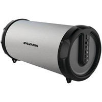 Sylvania Rugged Rubber Bluetooth Tube Speaker (silver)