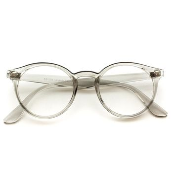 Joyce Transparent Clear Colored Round Frame Glasses