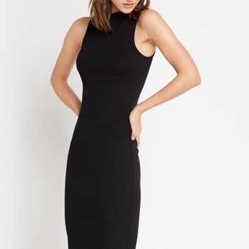 Riveting Ribbed Bodycon Dress