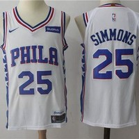 Best Sale Online Nike NBA Basketball Jersey Philadelphia 76ers # 25 Ben Simmons