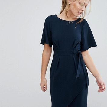 Closet tie front dress with kimono sleeve at asos.com