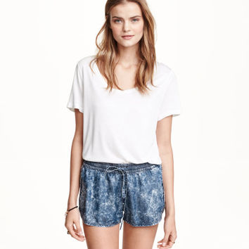 Lyocell Denim Shorts - from H&M