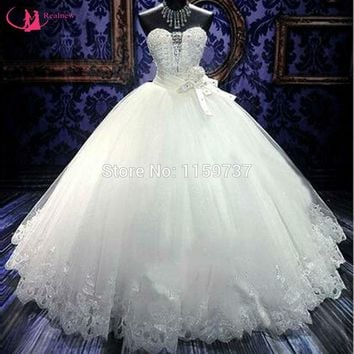 Luxury Crystal Beads Wedding Dress Sweetheart Corset Back Robe De Mariage Hot Selling Bridal Gown Ball Competitive Price