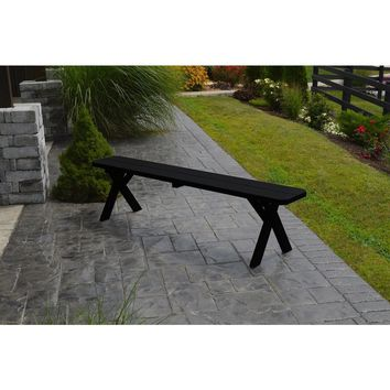 """A & L Furniture Co. Yellow Pine 33"""" Crossleg Bench Only  - Ships FREE in 5-7 Business days"""