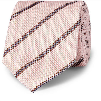 Kingsman - Drake's Striped Woven-Silk Tie | MR PORTER